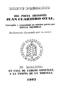 """Cubierta de """"Breve poemario"""""""