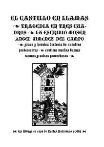 """Cubierta de """"El castillo en llamas"""""""