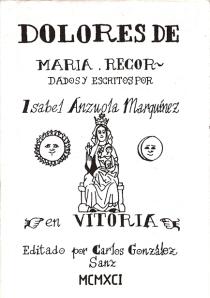 """Cubierta de """"Dolores de Maria"""""""