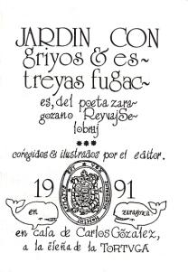 """Cubierta de """"Jardin con griyos y estreyas fugaces"""""""