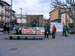 Iniciando la concentración en la Glorieta de Joaquín Costa.