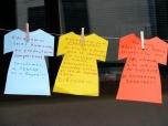 Durante la mañana los participantes en los actos no pararon de dejar sus mensajes colgados para que pudieran ser leídos por todos.